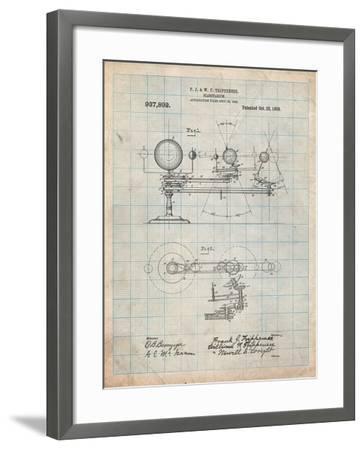 Planetarium 1909 Patent-Cole Borders-Framed Art Print