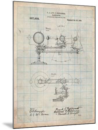 Planetarium 1909 Patent-Cole Borders-Mounted Art Print