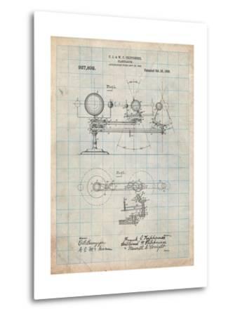 Planetarium 1909 Patent-Cole Borders-Metal Print