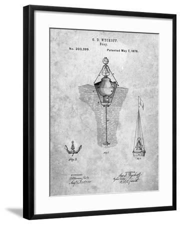 Water Buoy Patent-Cole Borders-Framed Art Print