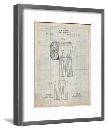 Toilet Paper Patent-Cole Borders-Framed Art Print