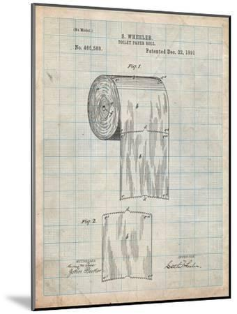 Toilet Paper Patent-Cole Borders-Mounted Art Print