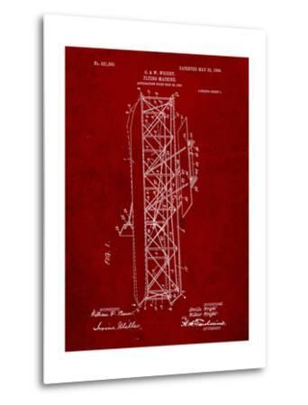 Wright Brother's Flying Machine Patent-Cole Borders-Metal Print