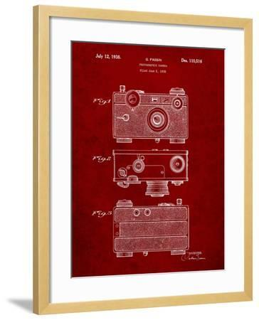 Fassin Photographic Camera Patent-Cole Borders-Framed Art Print