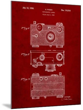 Fassin Photographic Camera Patent-Cole Borders-Mounted Art Print