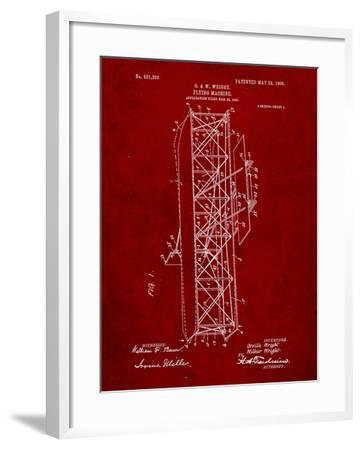 Wright Brother's Flying Machine Patent-Cole Borders-Framed Art Print