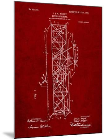 Wright Brother's Flying Machine Patent-Cole Borders-Mounted Art Print