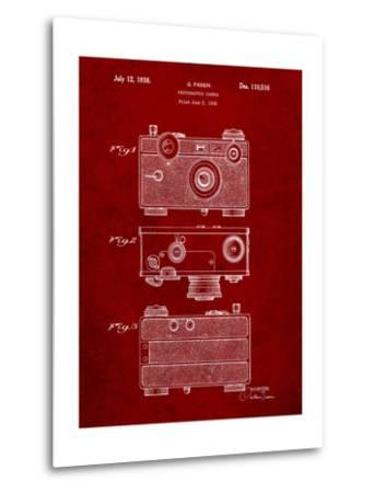 Fassin Photographic Camera Patent-Cole Borders-Metal Print