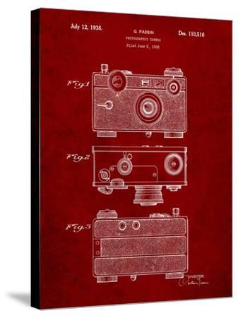 Fassin Photographic Camera Patent-Cole Borders-Stretched Canvas Print