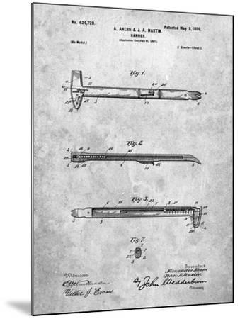 Vintage Claw Hammer Patent 1899-Cole Borders-Mounted Art Print