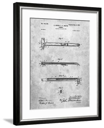 Vintage Claw Hammer Patent 1899-Cole Borders-Framed Art Print