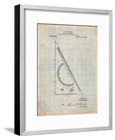 Drafting Triangle 1922 Patent-Cole Borders-Framed Art Print