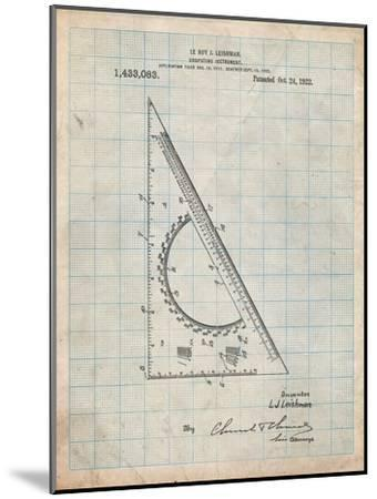 Drafting Triangle 1922 Patent-Cole Borders-Mounted Art Print
