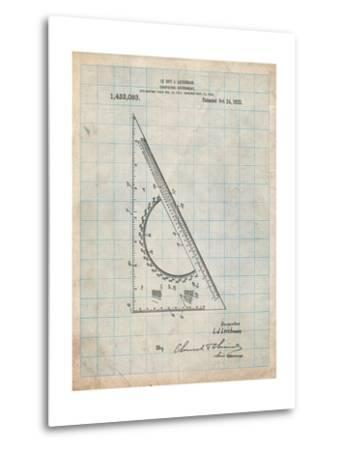 Drafting Triangle 1922 Patent-Cole Borders-Metal Print