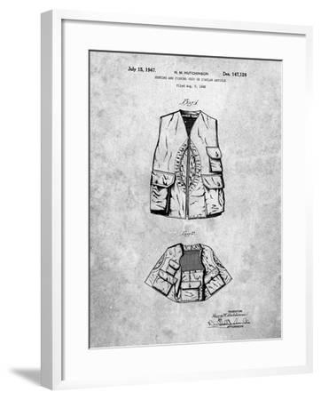 Hunting and Fishing Vest Patent-Cole Borders-Framed Art Print
