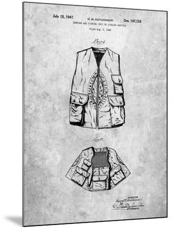 Hunting and Fishing Vest Patent-Cole Borders-Mounted Art Print