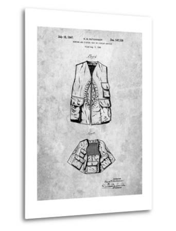 Hunting and Fishing Vest Patent-Cole Borders-Metal Print
