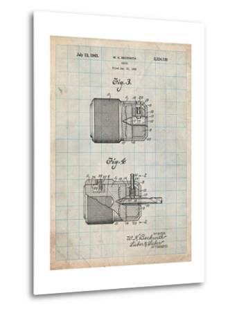 Drill Chuck 1943 Patent-Cole Borders-Metal Print