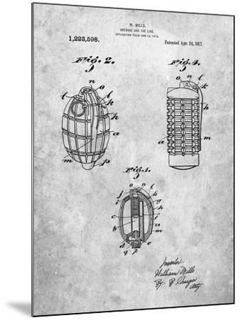 Hand Grenade 1915 Patent-Cole Borders-Mounted Art Print
