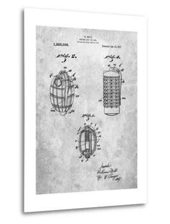 Hand Grenade 1915 Patent-Cole Borders-Metal Print