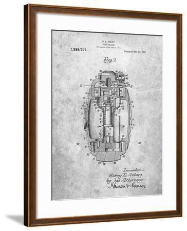 Hand Grenade World War 1 Patent-Cole Borders-Framed Art Print