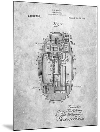 Hand Grenade World War 1 Patent-Cole Borders-Mounted Art Print