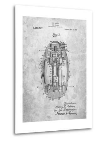 Hand Grenade World War 1 Patent-Cole Borders-Metal Print