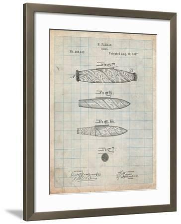 Cigar Tobacco Patent-Cole Borders-Framed Art Print