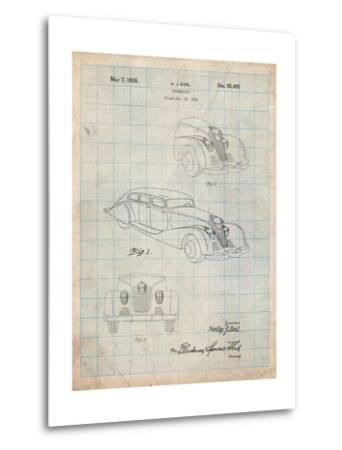 GM Cadillac Concept Design Patent-Cole Borders-Metal Print
