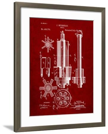 Drill Tool Patent-Cole Borders-Framed Art Print