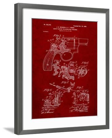 Wesson Pistol Patent-Cole Borders-Framed Art Print