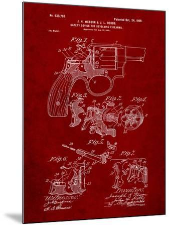 Wesson Pistol Patent-Cole Borders-Mounted Art Print