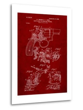 Wesson Pistol Patent-Cole Borders-Metal Print