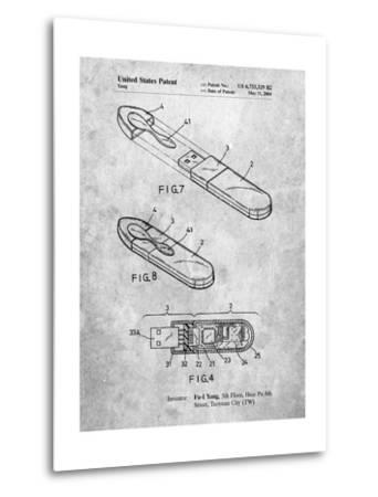 USB Flash Drive Patent-Cole Borders-Metal Print