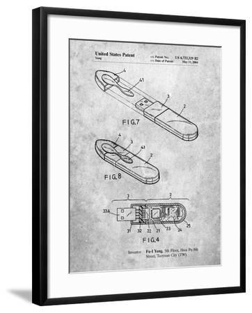 USB Flash Drive Patent-Cole Borders-Framed Art Print