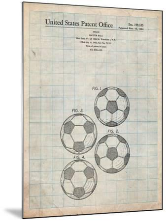 Soccer Ball Patent-Cole Borders-Mounted Art Print