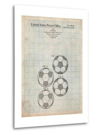 Soccer Ball Patent-Cole Borders-Metal Print