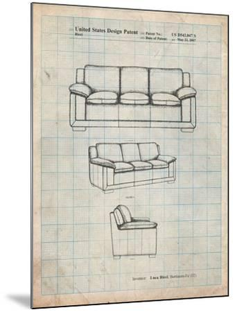 Couch Patent-Cole Borders-Mounted Art Print
