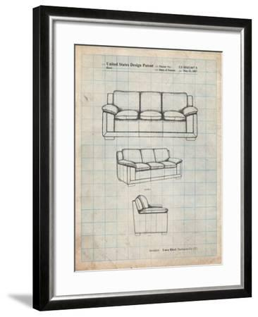 Couch Patent-Cole Borders-Framed Art Print