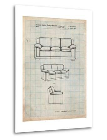 Couch Patent-Cole Borders-Metal Print