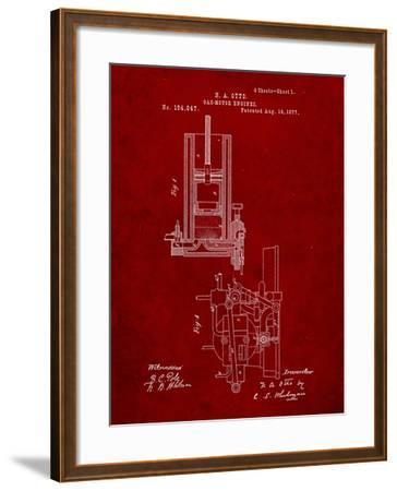 Combustion Engine Patent 1877-Cole Borders-Framed Art Print