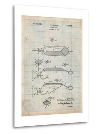Fishing Lure Patent-Cole Borders-Metal Print