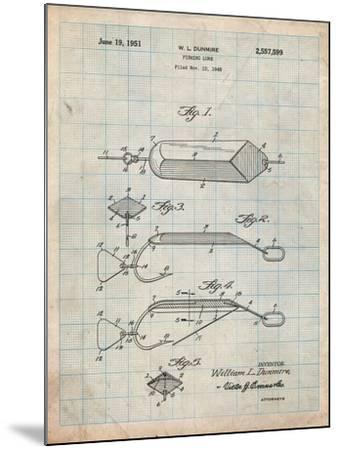 Fishing Lure Patent-Cole Borders-Mounted Art Print