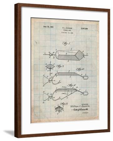Fishing Lure Patent-Cole Borders-Framed Art Print