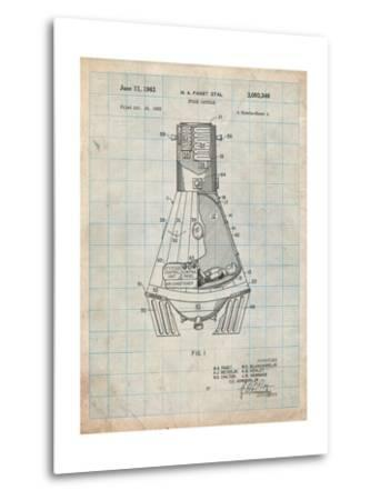 Space Capsule, Space Shuttle Patent-Cole Borders-Metal Print