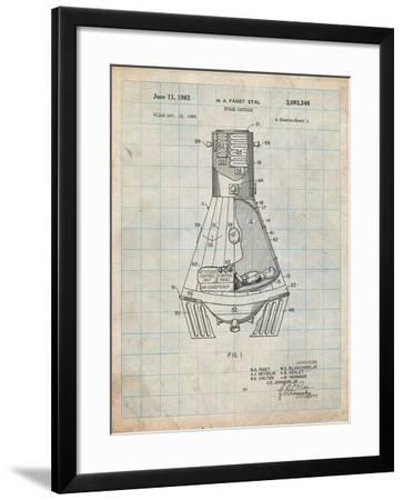 Space Capsule, Space Shuttle Patent-Cole Borders-Framed Art Print