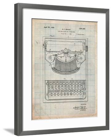 Dayton Portable Typewriter Patent-Cole Borders-Framed Art Print