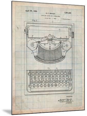 Dayton Portable Typewriter Patent-Cole Borders-Mounted Art Print