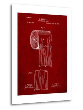 Toilet Paper Patent-Cole Borders-Metal Print