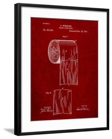 Toilet Paper Patent-Cole Borders-Framed Art Print